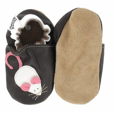 Hobea babyslofjes muis bruin