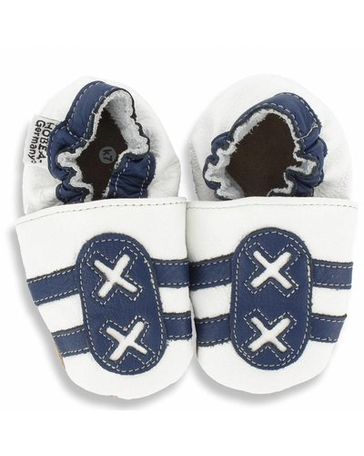 Hobea babyslofjes sport wit blauw