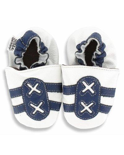 Hobea babyslofje Hobea sport wit blauw