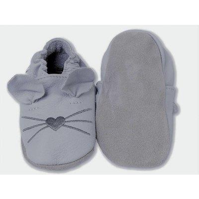 Licht Grijs babyslofje muis Hobea