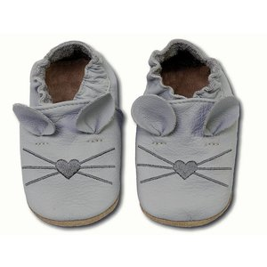 Hobea Hobea babyslofje muis licht grijs