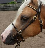 Ponytrends Show hoofdstel leder studs/rondgenaaid