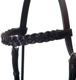plaited browband