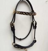 """Ponytrends Show hoofdstel leder """"chain"""""""