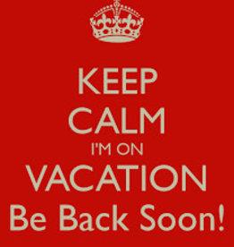 Summer holiday 21/7 - 28/7