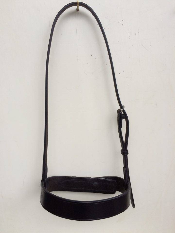 Ponytrends Plain leather cavesson noseband
