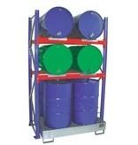 Fassregal für 4 stehende und 4 liegende Fässer à 200 l