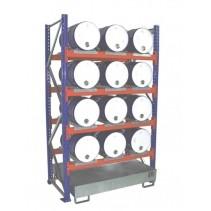 Fassregal für 12 Fässer à 50/60 l