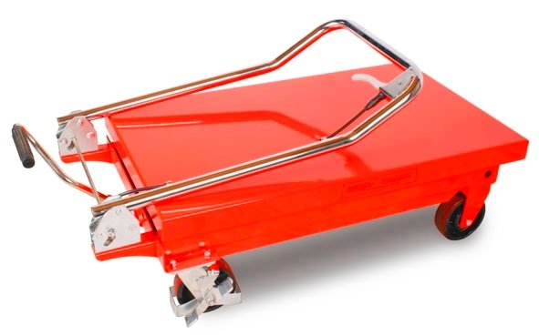 Hubtischwagen mit einer Tragkraft von 300 kg