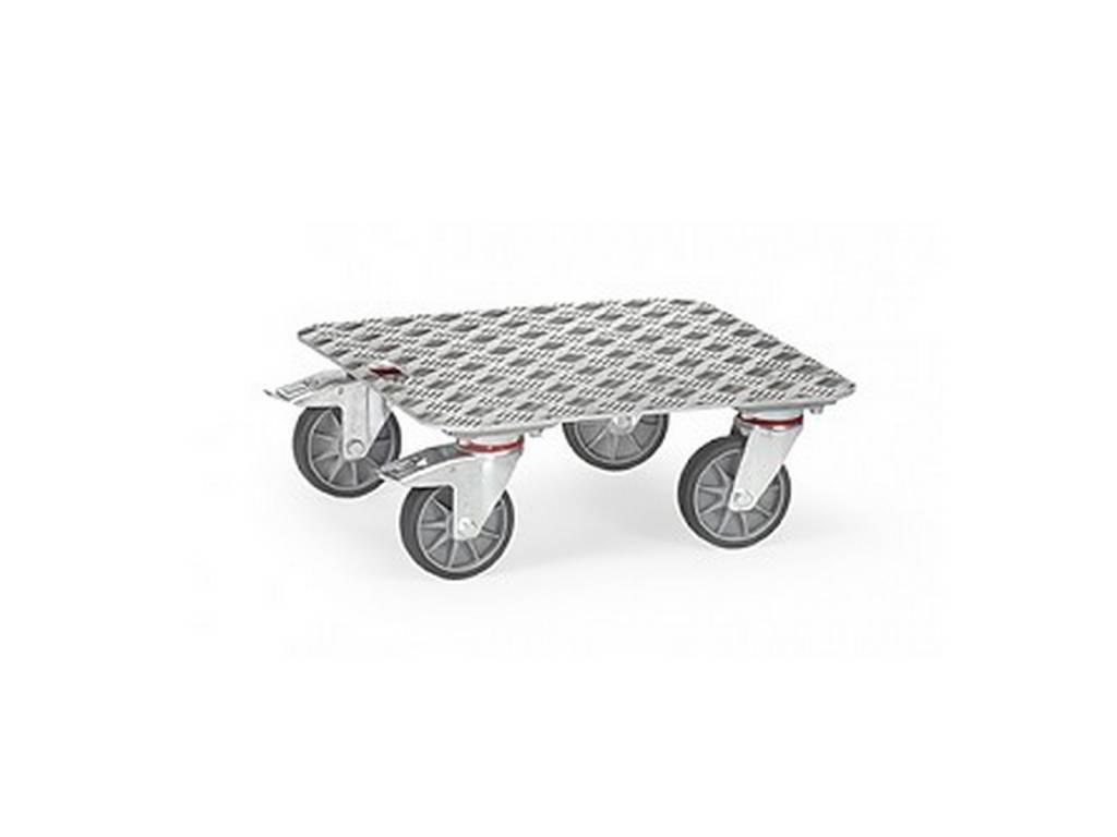 Kistenroller aus Aluminium mit einer Tragkraft von 250 kg