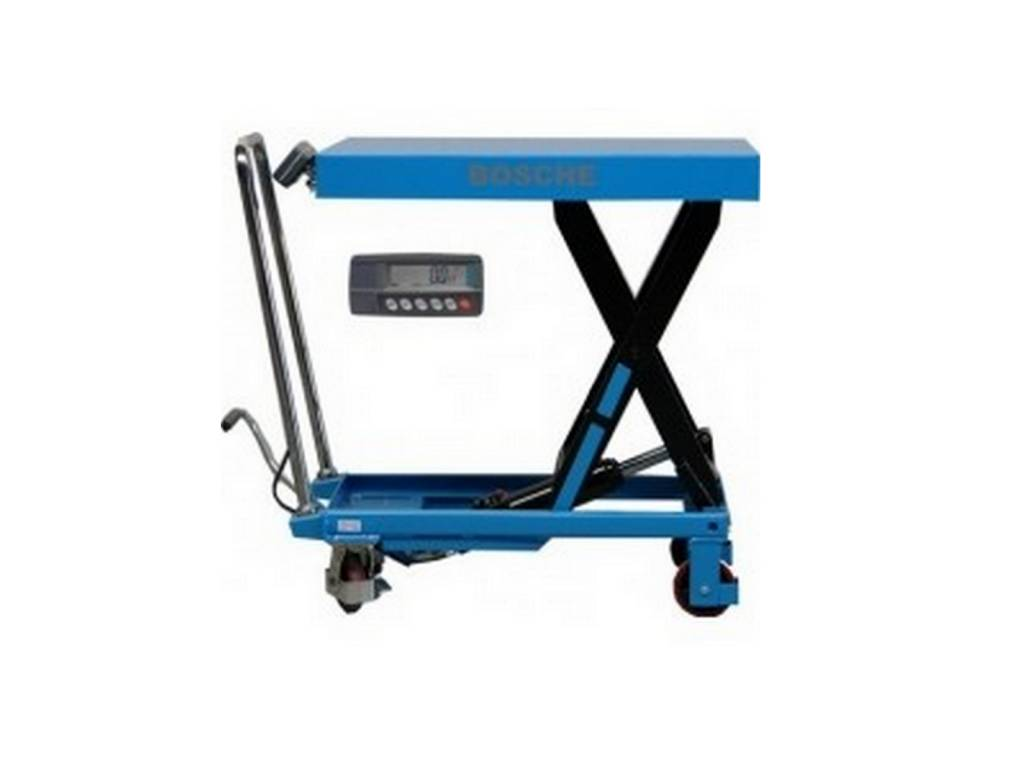 Hubtischwagen mit Waage 500kg/ 1000kg/ 1500kg