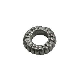 Cuenta DQ bali ring spacer ring 7mm platin zilverkleur