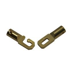 Cuenta DQ eindkappen met sluiting 3mm opening goudkleurig