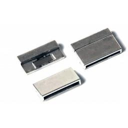 Cuenta DQ Sluiting magneet 25mm zilverkleur