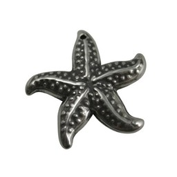Cuenta DQ pendent starfish 37mm silver plating