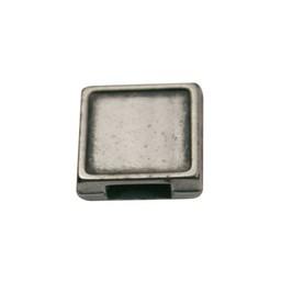 Cuenta DQ schieber perle zamak Quadrat 6mm