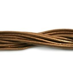 Cuenta DQ lederband 2mm brons metallic 1 meter .