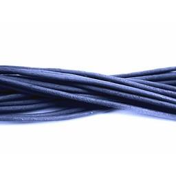 Cuenta DQ Leerveter 2mm rond blauw 1 meter