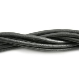 Cuenta DQ Leerveter 3mm grijs metallic 1 meter