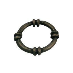 Cuenta DQ boat metal ring around 18mm antique gold