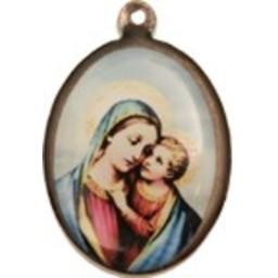 Cuenta DQ sieraden hanger medaille met afbeelding ovaal 21mm antiek koper