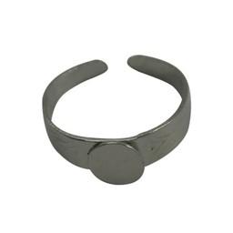 Cuenta DQ vingerring DIY met plaatje 7mm platin zilverkleur