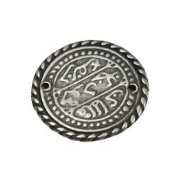 Cuenta DQ Keltische munt 27mm zilverkleur