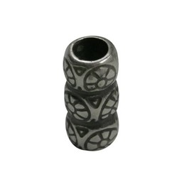 Cuenta DQ ton sierlijk 20x10mm zilverkleur