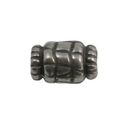 Cuenta DQ Metaal kraal 15x10mm zilverkleur