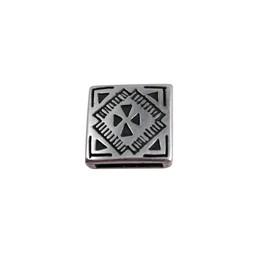 Cuenta DQ Metaal leerschuiver vierkant keltisch 13mm zilverkleur
