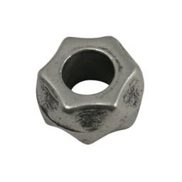 Cuenta DQ Kraal Metaal schroefje zilverkleur