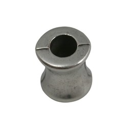 Cuenta DQ bead diabolo  silver plating
