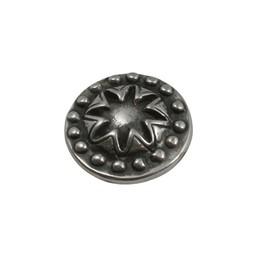 Cuenta DQ Ornament rond 21mm zilverkleur