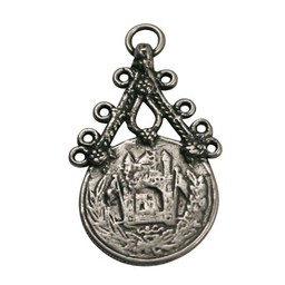 Cuenta DQ pendent  silver plating
