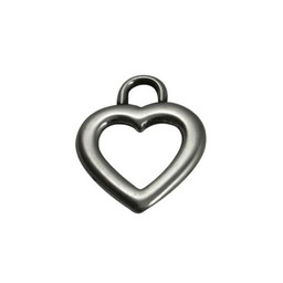 Cuenta DQ pendent Heart  open silver plating