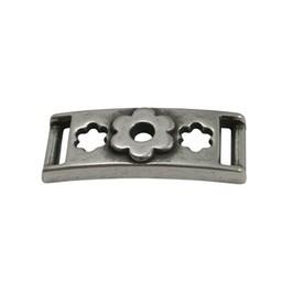 Cuenta DQ Armband schuiver Bloemen 37mmx10mm zilverkleur