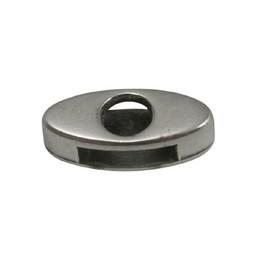 Cuenta DQ schieber perle zamak  10mm oval offen Versilberung