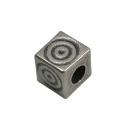 Cuenta DQ bead 6mm square  spiraal