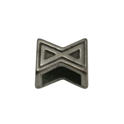 Cuenta DQ schieber perle zamak  X Sanduhr 6mm