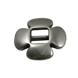 Cuenta DQ gesp schuiver 6mm klaver zilver