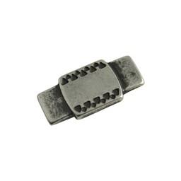 Cuenta DQ Metaal leerschuiver keltisch/ plaatje 25x12mm