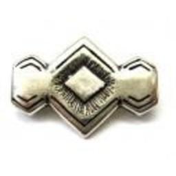 Cuenta DQ rivet 29x20mm silver plating