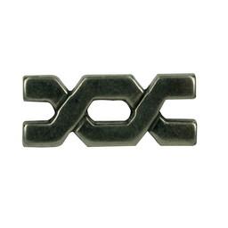 Cuenta DQ Rivet bytes 29x9mm zilverkleur