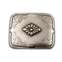 Cuenta DQ rivet flower 40x34mm silver plating
