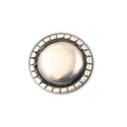 Cuenta DQ rivet round smooth 29mm silver plating