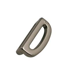 Cuenta DQ Metaal alfabet 13mm letter: D