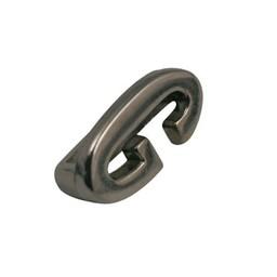 Cuenta DQ schiebe perle Metall alfabet 13mm Buchstaben: G