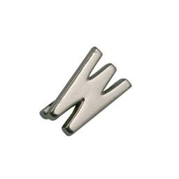 Cuenta DQ schiebe perle Metall alfabet 13mm Buchstaben: W