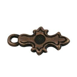 Cuenta DQ Keltisch cross copper plating.