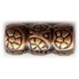 Cuenta DQ Meta lbead copper plating.